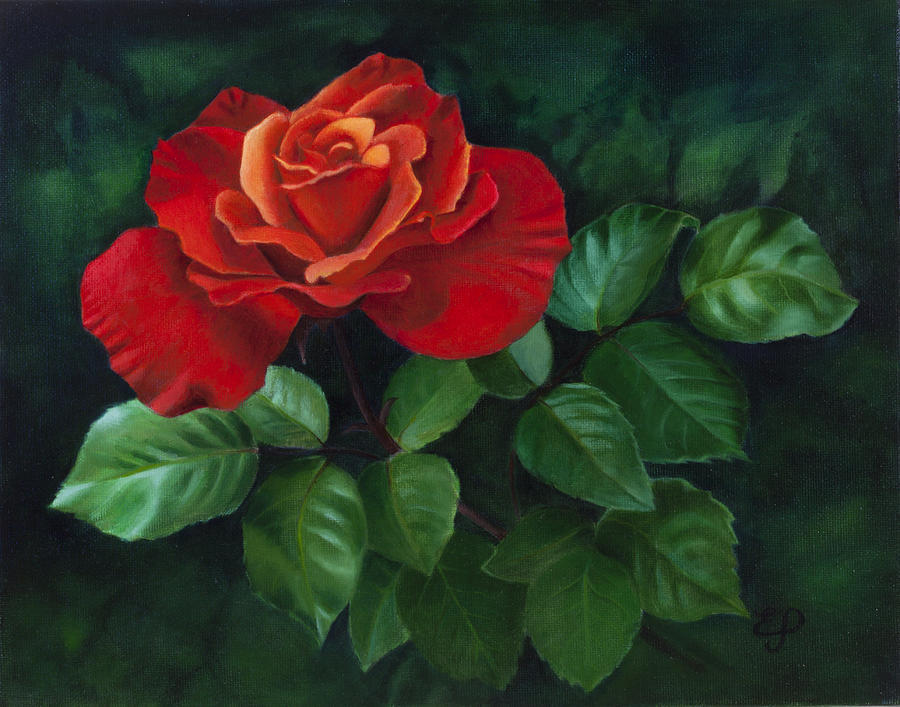 Easy oil painting flowers for Flower paintings on canvas