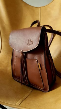 leather rucksack for women