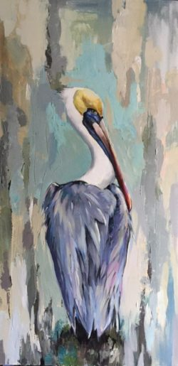 pelican oil painting arts