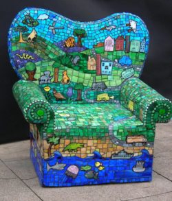 mosaic garden chairs