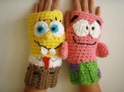 crochet animal gloves