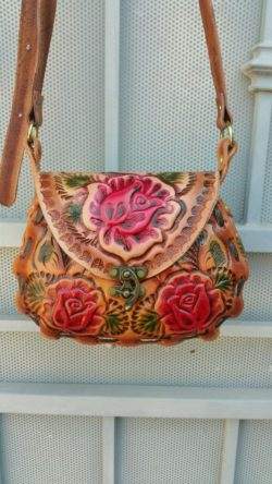vintage leather women bag