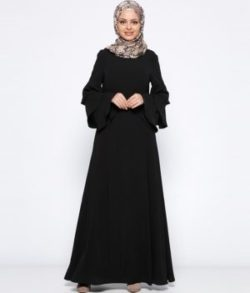 Buy Black Abaya with Long Sleeve Dubai Girls Robes Saudi Abaya