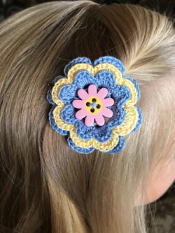 unique crochet hair clips