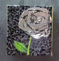 mosaic flower coasters