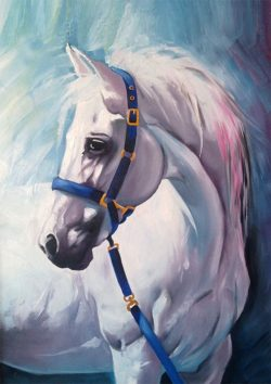 horse portrait oil painting