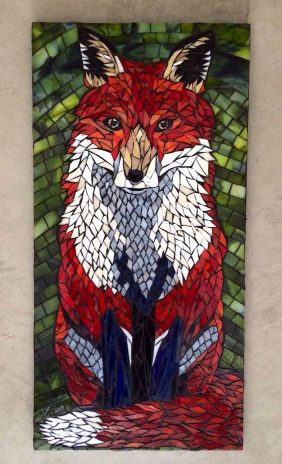 mosaic fox art