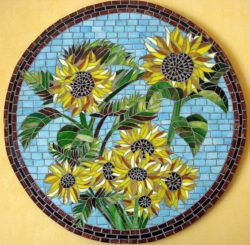 mosaic sunflower art