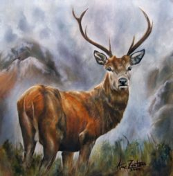deer life oil painting