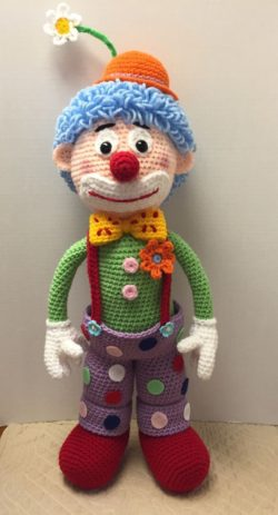 crochet clown amigurumi