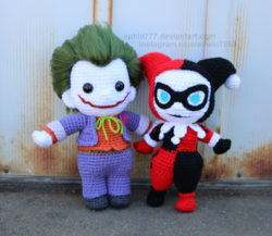 crochet joker toy