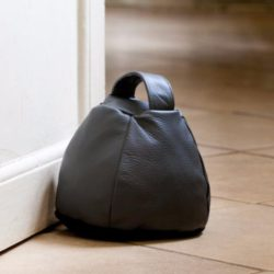 unique leather door stopper