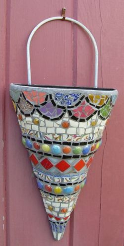 mosaic wall pocket