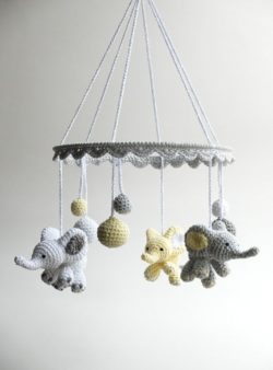unique crochet baby mobile