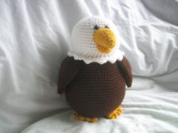 crochet eagle toy
