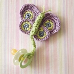 crochet baby pacifier toy