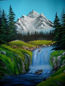 paradise nature oil painting