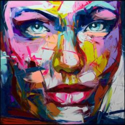 dazzling color portrait oil painting
