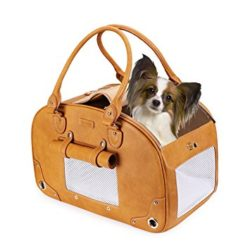 leather dog carrier