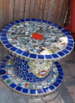 mosaic electric spool table