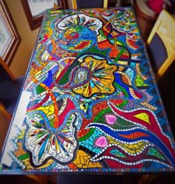 mosaic kitchen table
