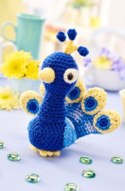 crochet peacock toy