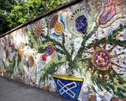mosaic wall garden art