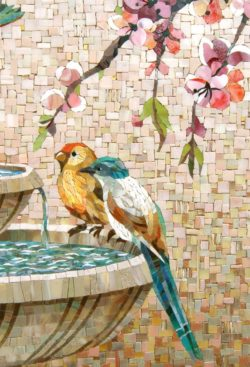 mosaic loving birds