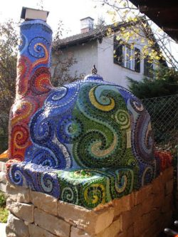 mosaic outdoor oven