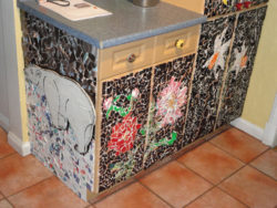 mosaic cupboard door