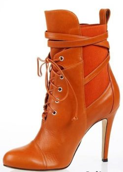 leather women booties