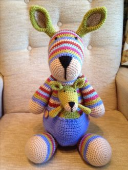 crochet kangaroo toy