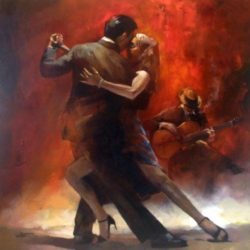 tango dancing oil painting art
