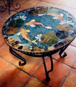 mosaic table flower
