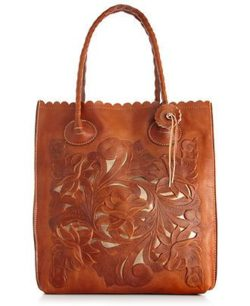 leather vintage handbag