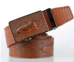 leather crocodile belt